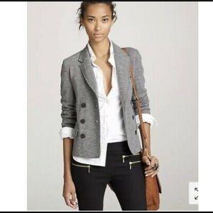 J. Crew Thandie Wool Blazer Jacket  Gray Grey 10